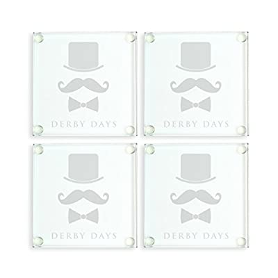 Cathy's Concepts Derby Days Glass Coasters, Set of 4