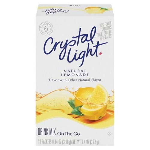 Crystal Light On The Go Natural Lemonade Drink Mix, 10-Packet Box (Pack of 24)