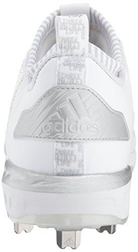 Chaussure Adidas Homme Freak X Carbone Mi-bas Blanc / Argent Métallisé / Gris Clair