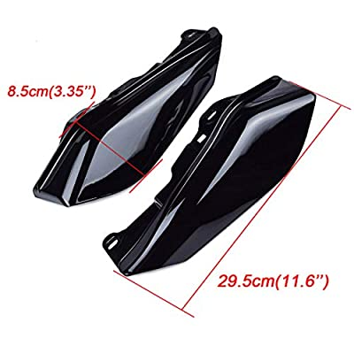 PBYMT Gloss Black Mid Frame Air Heat Deflectors Compatible for Harley Touring Street Glide Electra Glide Road King 2009-2016: Automotive