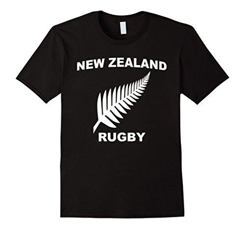 Mens New Zealand Rugby Jersey Tee Shirt 2XL Black