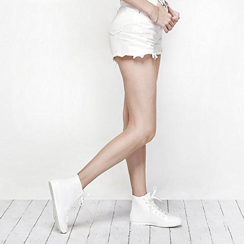 QYQyx Women's rain Boots, Anti-Slip Short Boots, Urban Lovers rain Boots, Casual rain Boots, Non-Slip Rubber Shoes White