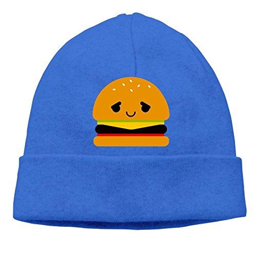 Carter Hill Hamburger Emoji Unisex Cool Hedging Hat Wool Beanies Cap RoyalBlue By