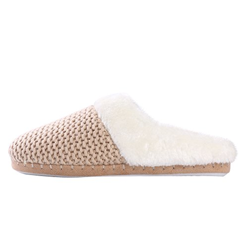 amp; Cozy Beige Sole Fluffy Warm Indoor Slippers Women's Shoes Lined Soft on Winter Lining Plush with Slip Fleece Bfw4q6