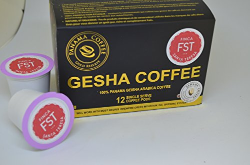 12 K cups of Panama FST Washed Geisha Coffee