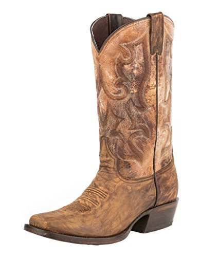 Stetson Harshaw Mens Brown Leather Distressed 13in Boots Distressed Brown Vamp 5q8NW