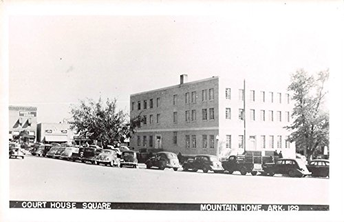 Mountain Home Arkansas view of court house square real photo pc Y6524 - Arkansas Square