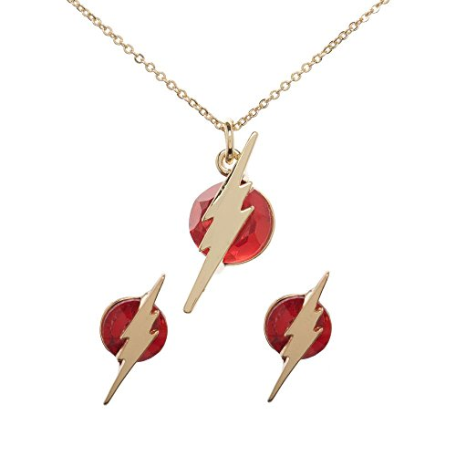 - The Flash Jewelry Necklace and Earrings Set DC Comics