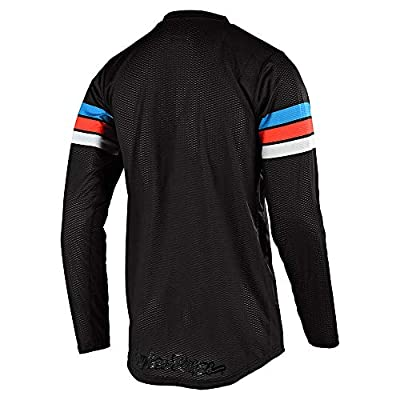 Troy Lee Designs Men's Offroad Motocross GP AIR Saddleback Jersey (Small, Black/Cyan): Clothing