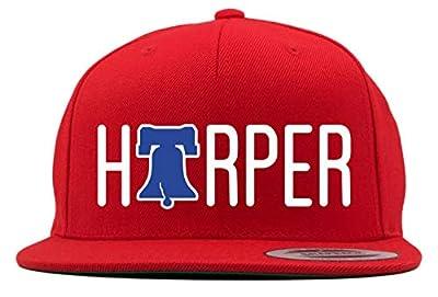 RED Snapback Philadelphia Bryce Text Bell Hat
