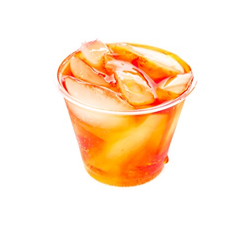 Disposable Clear Plastic Cups | 9 oz | To Go Cup for Party, Iced Coffee, Cocktails, Bubble Tea, Slushy, Juice, Smoothies, and Soda. [100 pack]