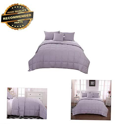 Gatton Premium New Summer Sheet Pillowcase Sets Blanket Comforter Duvet, Grey, 100% White Goose | Style Collection Comforter-311012182 -