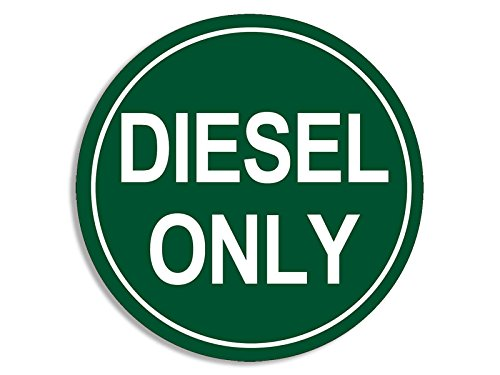 American Vinyl Round Green Diesel Only Sticker (Decal Logo go Green Oil Gas Fuel)