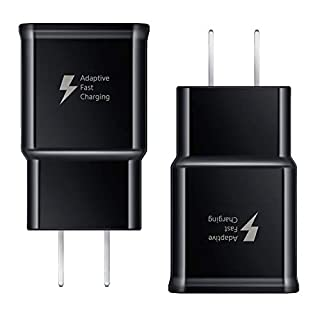 Fast Charger Compatible with Samsung Galaxy S8 S8 Plus S9 S9 Plus S10 S10 Plus Note 8 Note 9 Note 10 S7 S7 Edge S6 S6 Edge, Quick Charge 3.0 Fast Charging USB Wall Charger Plug for Samsung [2 Pack]