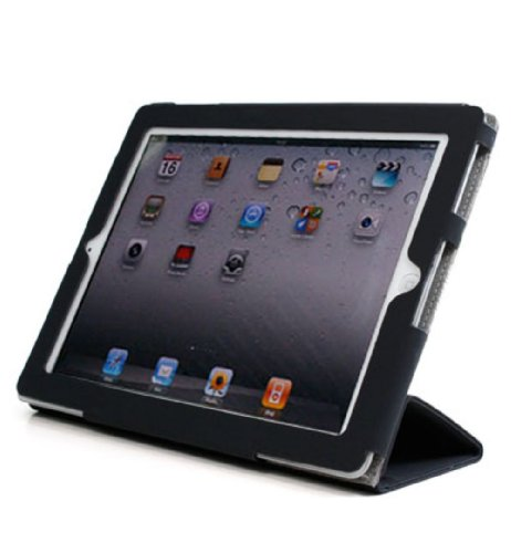 - Kroo Micro Suede Soft Portfolio Stand Case for Apple iPad 2
