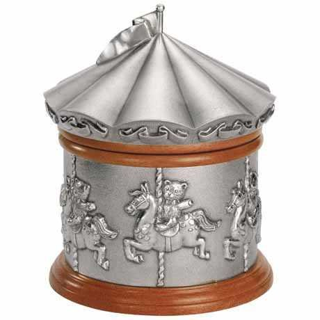 Royal Selangor Hand-Finished Teddy Bears' Picnic Merry Go Round Music Box 12.5cm D x 15.5cm H by Royal Selangor
