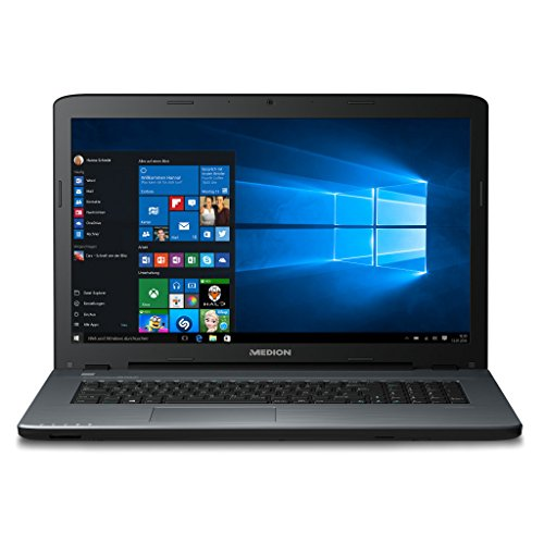 MEDION AKOYA P7645 43,9 cm (17,3 Zoll mattes Full HD Display) Notebook (Intel Core i7-7500U, 16GB DDR4 RAM, 2TB HDD, 128GB SSD, Nvidia GeForce 940MX) schwarz