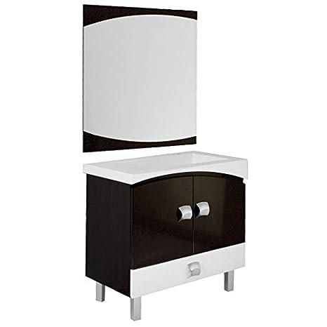 Muebles De Baño Valencia   Mueble Bano Lavabo Valencia Espejo 80 Centimetros Unidades De