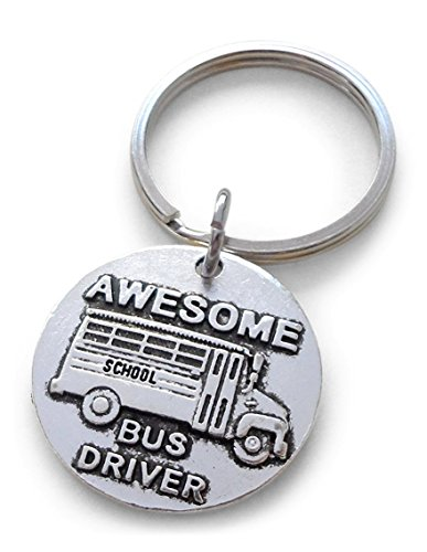 Awesome Bus Driver Appreciation Gift Keychain, School Bus Driver Gift ()