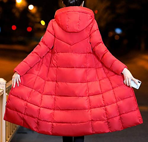 Maxi Midi Puffer Hooded Red VITryst and Women Jacket Oversized Windproof 0B0wHIEx