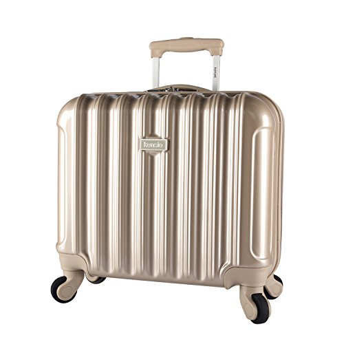 Travelers Club Luggage Kensie 17 Inch Rolling Briefcase, Silver, Pale Gold ()