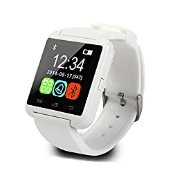 Generic Bluetooth Smart Watch Support Recording Color White