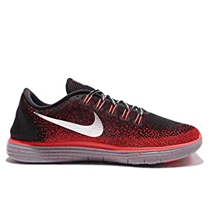 Nike Men's Free RN Distance Shield Running Shoe (Sz. 10) Black, Team Red, Metallic Silver