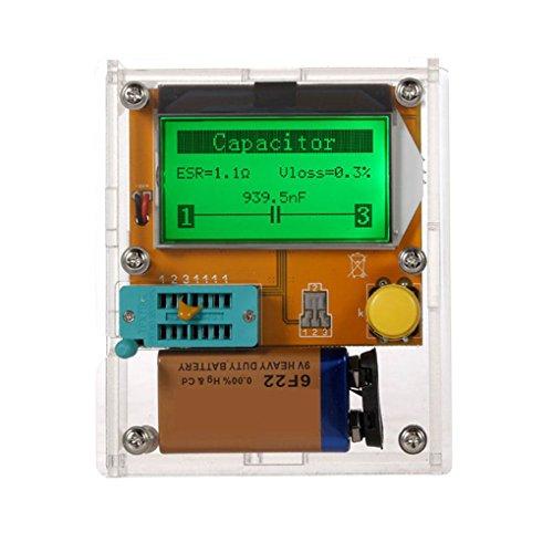 (Zerama LCD Display ESR Transistor Tester Multifunctional Resistor Inductor Capacitor SCR Mos Tube Triode)