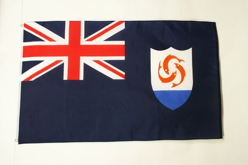 AZ FLAG Anguilla Flag 3' x 5' - Anguillian - British Flags 90 x 150 cm - Banner 3x5 -