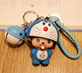 Thedmhom 1 Pcs 2018 New Cute Kawaii Cartoon Anime Blue Robot Cat Bell Blue Wrist Rope Keychain Novelty Toy Gift Accessories Fashion Ornaments Coin Purse Baby Shape Keyring Bag Buckle Phone Pendant