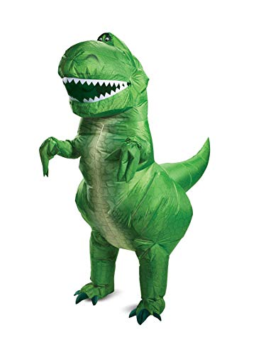 Disguise Unisex Disney Pixar Rex Inflatable Toy Story 4 Adult Costume, Green, One Size