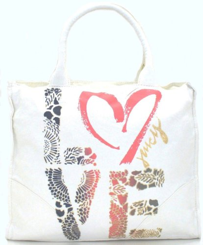 Juicy Couture Love Power Tote,Angel Ivory,one size by Juicy Couture