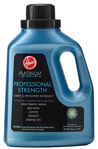 (Hoover AH30030 Carpet Cleaner and Upholstery Detergent Solution, Platinum Collection Professional Strength Formula, 50 oz)