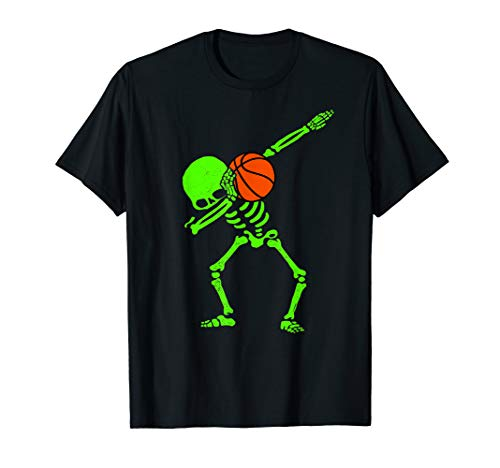 Halloween Dabbing Skeleton BASKETBALL T-Shirt Skeleton -