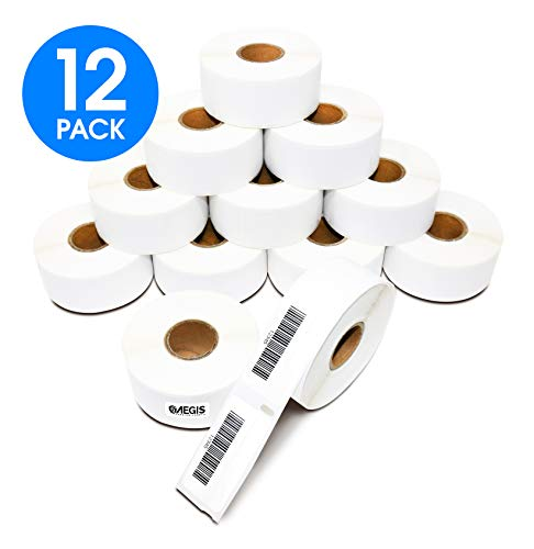 "Aegis Labels - 12 Rolls DYMO 30330 Compatible Return Address Multipurpose 3/4"" X 2"" Barcode Replacement Labels for LW Labelwriter 450, 450 Turbo, 4XL (500/Roll)"