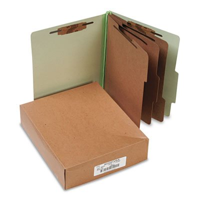 Pressboard 25-Pt. Classification Folder, Letter, 8-Section, Leaf Green, 10/Box, Sold as 2 Box, 10 Each per Box