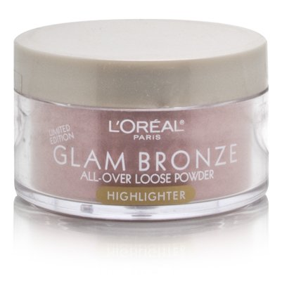 L'Oreal Glam Bronze All-Over Loose Powder Highlighter-ROSE DUSK 0.50 OZ. EACH
