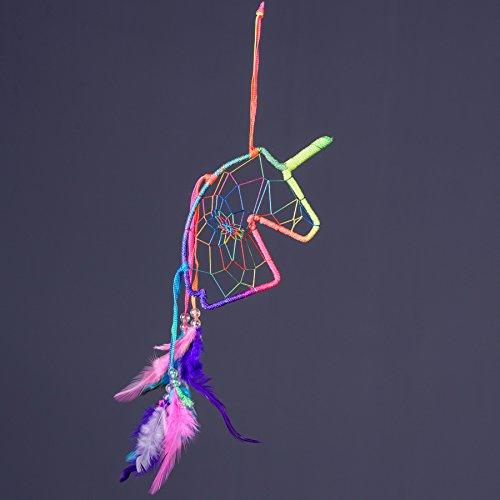 Unicorn Profile Dream Catcher (Rainbow)