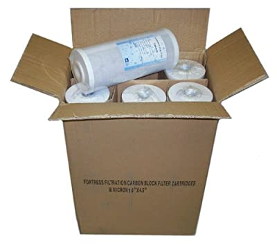 """Fortress Filtration Qty(6) Carbon 5 Micron 10"""" x 4.5"""" Coconut Water Filters RO/Cartridges/Case/Block/GAC Bulk Pack Case / Wholesale Pricing"""