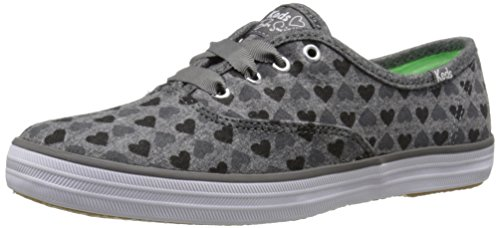 Keds Women's Taylor Swift's Champion Hearts Charcoal 5 B US