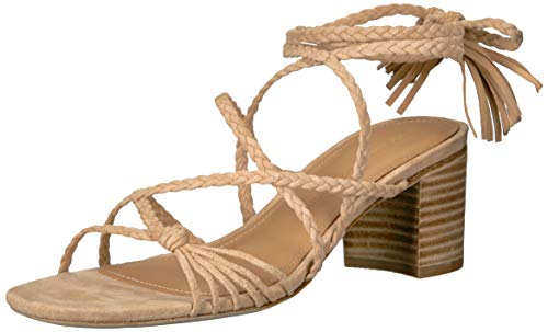 (Sigerson Morrison Women's HAIZE Heeled Sandal, Tan, 37.5 M EU (7.5 US))
