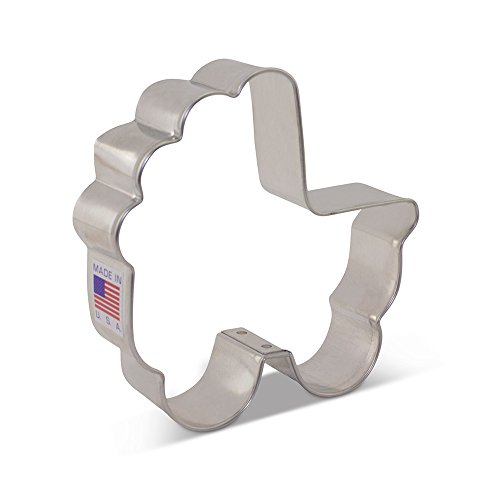 Baby Carriage Cookie Cutter - 3.5 Inch - Ann Clark - US Tin Plated Steel