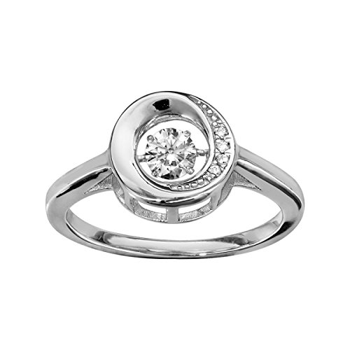 Thabora - Bague femme argent & oxydes taille 54 - 068229/54