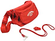 Adoretex Lifeguard Fanny Pack Whistle with Lanyard Set