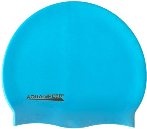 AQUA-SPEED - Bademütze / Schwimmkappe - Super-stretch Mega 100-30 (hellblau)