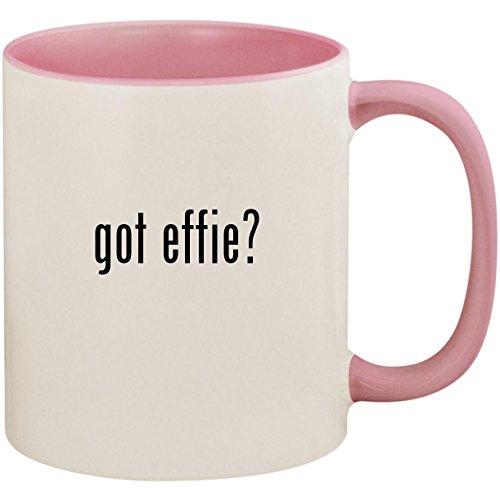 got effie? - 11oz Ceramic Colored Inside and Handle Coffee Mug Cup, -