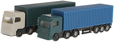 モデルのコンテナトラック図 建物の景観レイアウト 2個入り
