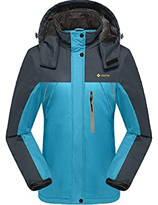 GEMYSE Women's Waterproof Mountain Jacket Fleece Windproof Ski Jacket