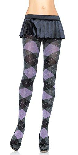 LA7725 (Grey) Heather Argyle Tights (Argyle Tights)