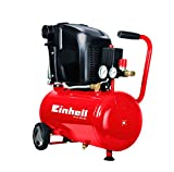 Einhell Compressor, TE-AC 230/24(1.5kW, 24l. suction power 230l/min, 8bar, lubricated, large wheels and mounting bracket).